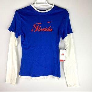 Nike Florida Double Layer Scoop Neck Top Small